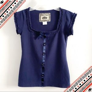 Effie's Heart ruffle square neck top